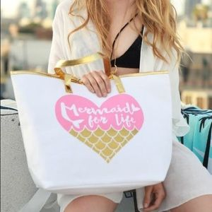 🆕Mermaid For Life Tote Bag in Pink/Gold